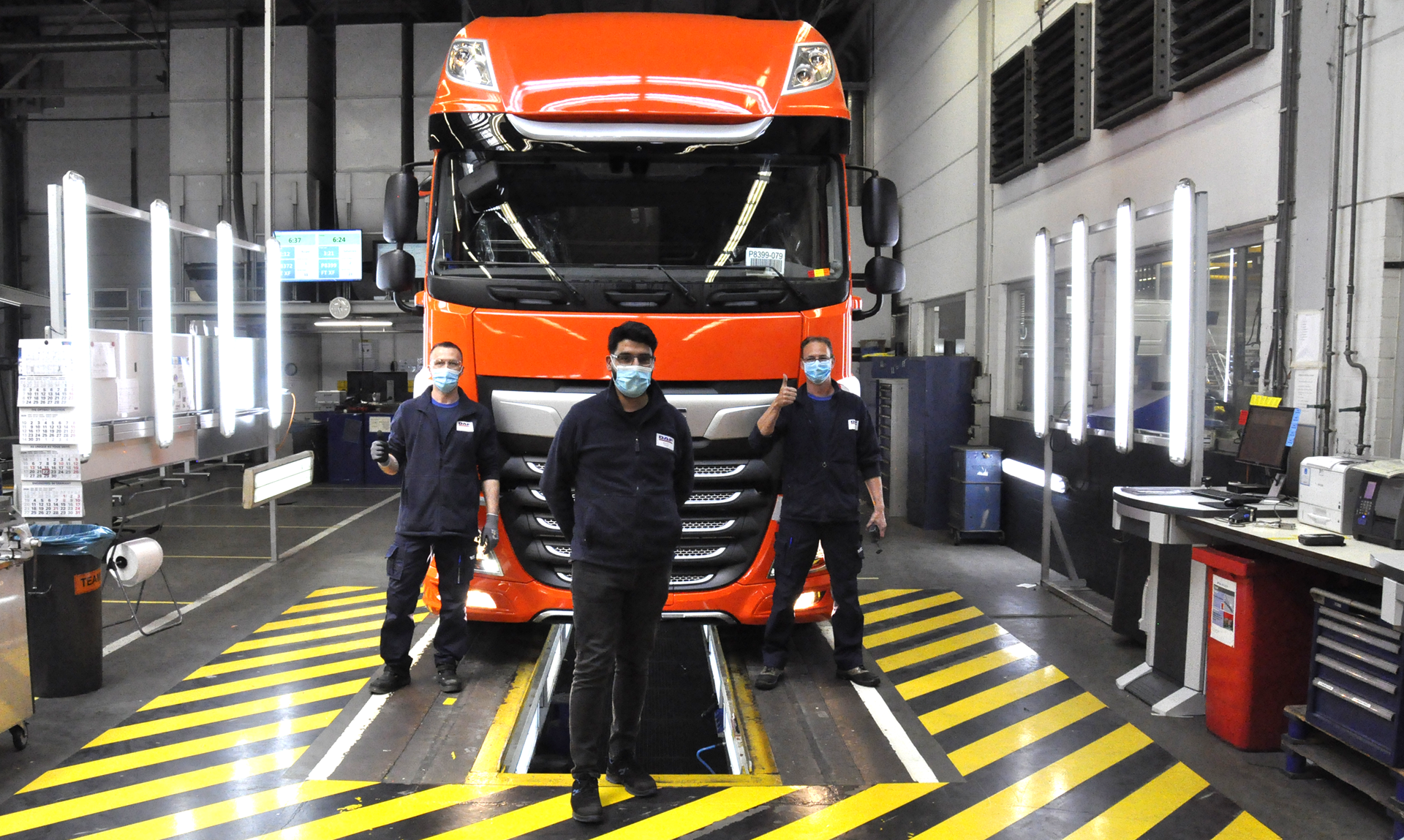 First-DAF-truck-leaves-production-line